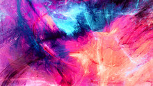 """Постер, картина, фотообои """"Cold multicolor beautiful futuristic pattern. Abstract painting bright color texture. Bright modern artistic motion background. Fractal artwork for creative graphic design"""""""
