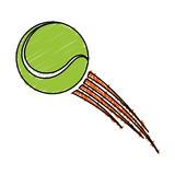tennis ball sport icon vector illustration design