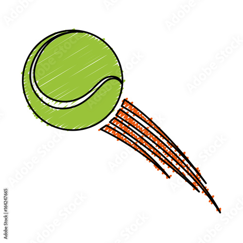 tennis ball sport icon vector illustration design