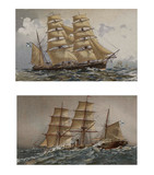 Illustration of ships 19-18 century. - 164258400