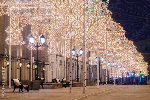 Boże Narodzenie w Moskwie. Ulica Nikolskaja