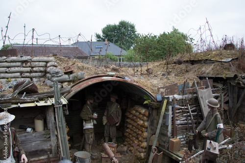 World War one trenches Poster