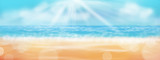 Abstract Beach Background: Sand, Sea and Sun - Banner - Panorama