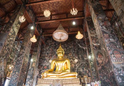 Buddha statue of Wat Suthat, (Suthattepwararam Temple), Bangkok, Thailand