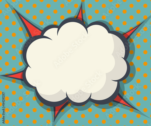 abstract blank speech bubble comic book, pop art