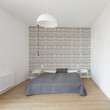 Modern bedroom in minimalistic style - 164284890