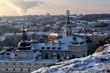 Vilnius winter panorama from Gediminas castle tower. Vilnius. Lithuania