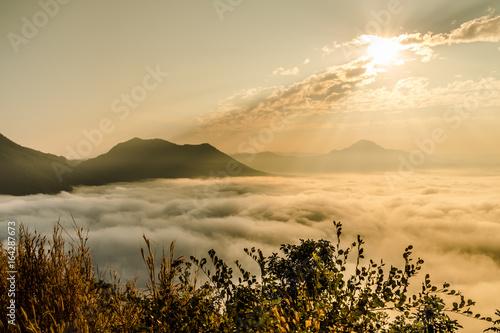 The sun rise mountain in Thailand, Phu Tok