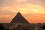 The Great pyramid on sunset - 164296890