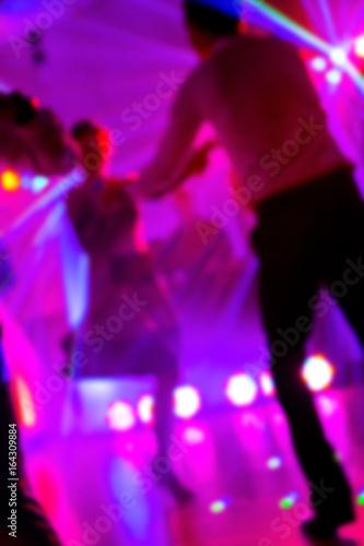 Dancefloor, party concept with dancing people - 164309884
