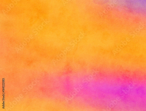 Orange Watercolour Blended Paint Texture