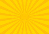 Fototapety Yellow Retro vintage style background with sun rays vector illustration