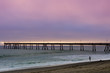 Pacifica Municipal Pier Sunset. Pacifica, San Mateo County, California, USA.