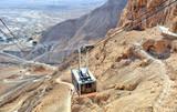 Cable car to fortress Masada (Judaean Desert, Dead Sea,Israel) - 164337217