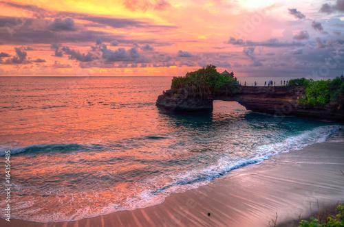 Fotobehang Koraal Tanah Lot Temple on Sea in Bali Island Indonesia..