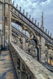 Architectonic details from the famous Milan Cathedral, Italy - 164352444