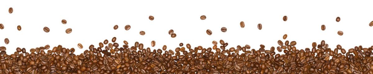Kaffeebohnen isoliert auf weißem Hintergrund - Panorama © tech_studio