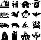 Farmer's Market Icons - Black Series - 164390041