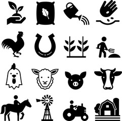 Farm Icons - Black Series