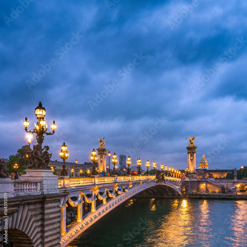 Fridge magnet Pont Alexandre III in Paris, Frankreich