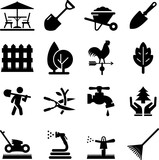 Landscaping Icons - Black Series - 164395093