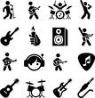 Rock Music Icons - Black Series
