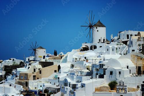 Santorini. The village of Oia. White buildings. Greece