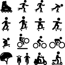Skate And Street Icons  Black Series Sticker