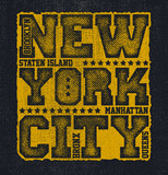 New York City Typography Graphics, T-shirt design. vector illustration - 164428432