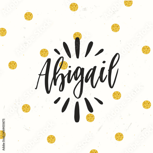 hand drawn calligraphy personal name lettering abigail buy photos