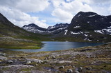 Rauma Municipality, Møre og Romsdal county, Norway. Valley that leads to the famous Trollstigen mountain pass.
