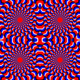 Hypnotic Of Rotation. Perpetual Rotation Illusion. Background With Bright Optical Illusions of Rotation. Optical Illusion Spin Cycle. Vector Illustration - 164459636