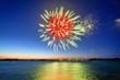 feu d'artifice sur la mer