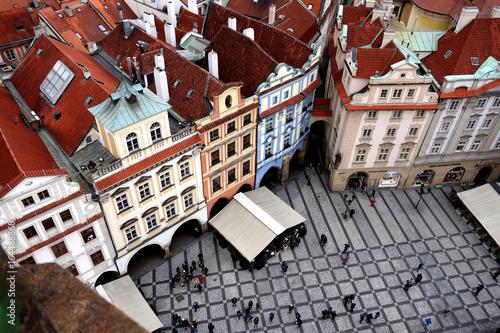 Vue depuis la Tour de l'Horloge astronomique de Prague, République Tchèque Poster