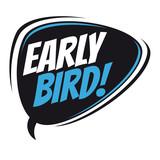 early bird retro speech balloon - 164472255
