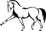 A logo with a trotting horse. - 164472638