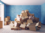 the heap of the cardboard boxes - 164473654