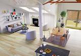 Attic floor design - 164473655