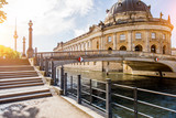 Beautiful riverside view on the Bode museum during the sunrise in Berlin city - 164494294