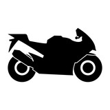 Motorcycle black icon . - 164496288
