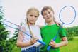 friends play tennis