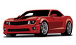 Modern Sports Car Vector Illustration with single layer background color for easy changing