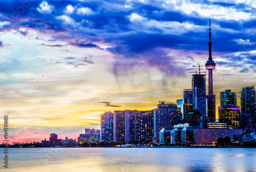 Sunset On Toronto, Toronto, Ontario, Canada