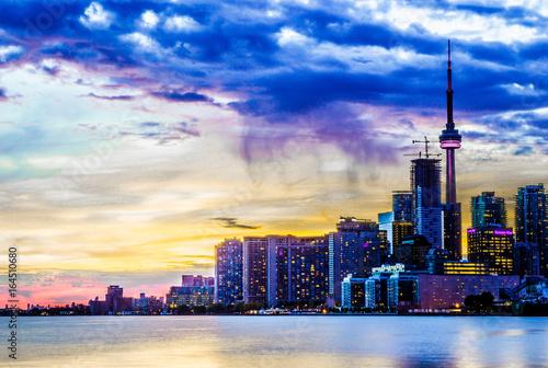 Aluminium Toronto Sunset On Toronto, Toronto, Ontario, Canada