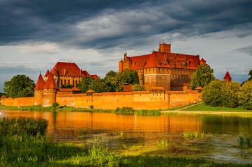 Marienburg an der Nogat in der Abendsonne; Polen