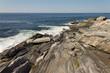 Waves Hitting the Rocky Maine Shoreline