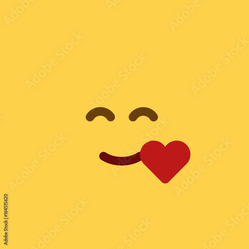 Emoji Tile Feeling Love