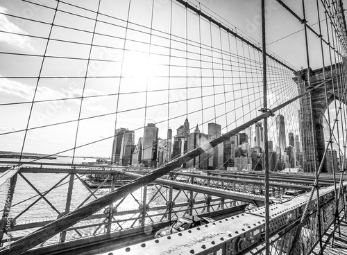 New York Brooklyn Bridge on a sunny day Poster