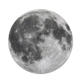 Full Moon Isolated  (Elements of this image furnished by NASA) - 164523070