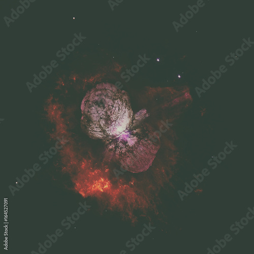 Homunculus Nebula is a bipolar emission and reflection nebula. Elements of this image furnished by NASA